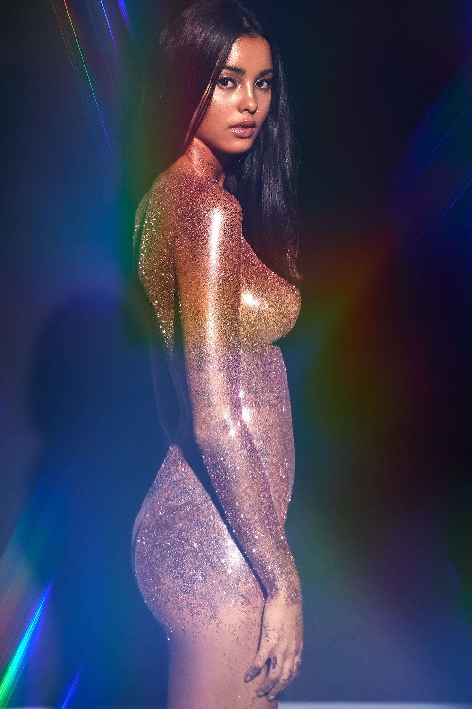Golden Edition, The Beauty Edit Review, Mayillah, Glitter, Heavy Metal Editorial, Mac Cosmetics Glitter, Make Up For Ever Glitter, Glitter Makeup, Beauty Editorial, Body Glitter