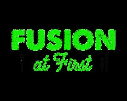 Fusion At First (logo 4 Green black).png