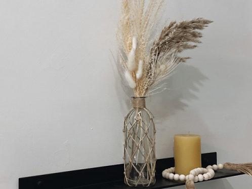 אגרטל סול- זכוכית וחבל
