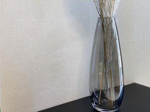 אגרטל זכוכית מעושנת-גוון אפור