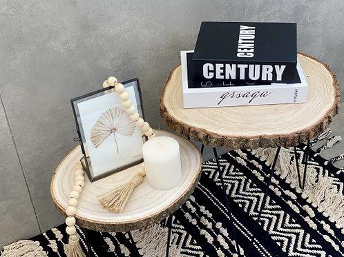 שולחן צד בול עץ-גודל לבחירה