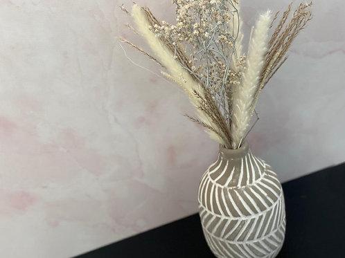 אגרטל אותנטי- אפור ולבן