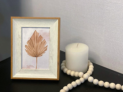 מסגרת דמוי עץ משולב-הדפס עלה