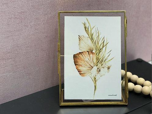 מסגרת מתכת זהב-הדפס זר בוהו