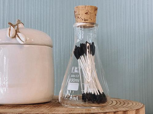בקבוקון עם מקלוני אזניים-BLACK
