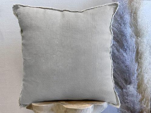 כרית פשתן טבעי-אפור בייבי