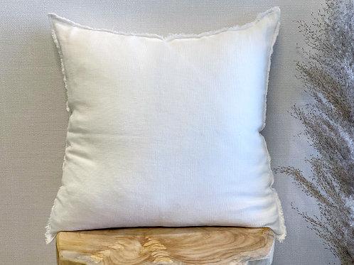 כרית פשתן טבעי-לבן