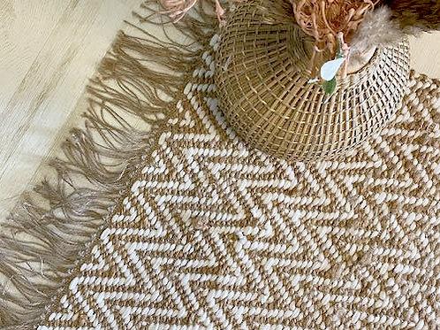 שטיח חבל טבעי לבן ZIGI