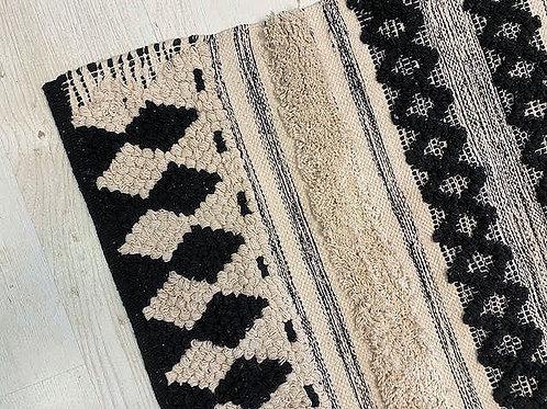 שטיח בוהו יהלום שחור