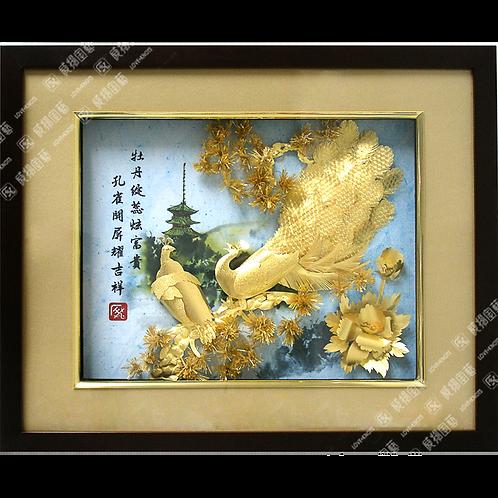 C0228 翠柳添瑞-金鳳迎福