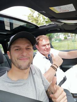 Autofahrt mit Claus Nüssle
