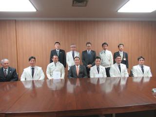 平昌パラリンピック出場選手が阿部知事を表敬訪問しました