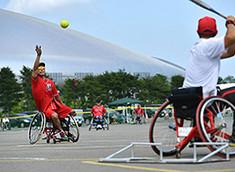 車椅子ソフトボール大会 開催
