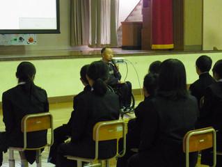 伊那市立高遠中学校でアスリート講演会を行いました
