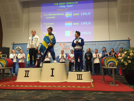 Mazzantini superlativa ai Campionati Europei di Powerlifting
