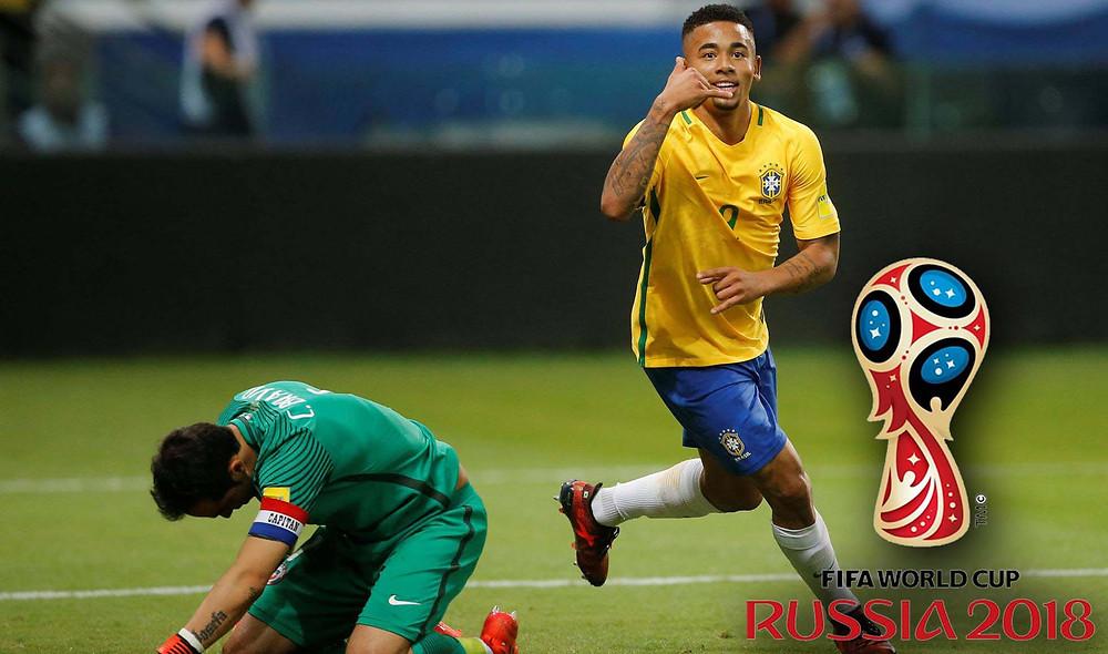 De volta ao Allianz Parque, Gabriel Jesus marca duas vezes. STRINGER REUTERS