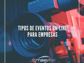 Tipos de eventos on-line para empresas