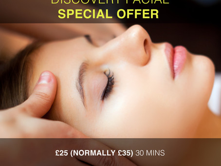 OFFER NOW ENDED - Discovery Facial Special Offer in Totnes - Was £35 Now £25!