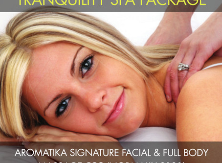 Tranquility Spa Package was £101 now £80 – Massage & Facial Special Offer, Totnes