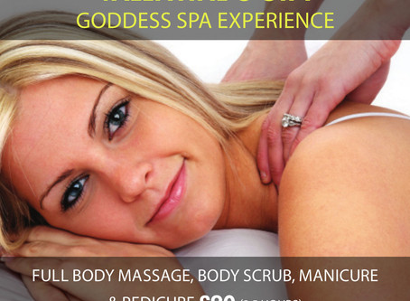 OFFER NOW ENDED - Valentine's Gift - Goddess Spa Experience 3.5 hours - only £90!