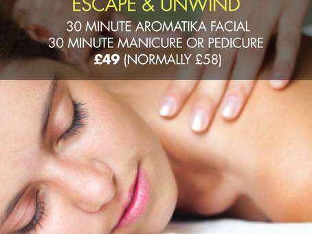 Escape & Unwind was £58 now £49 – Facial & Manicure/Pedicure Special Offer, Totnes