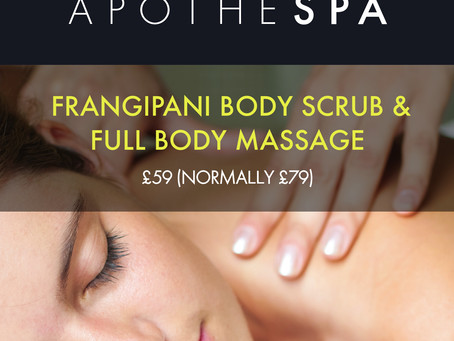 Frangipani Body Scrub & Full Body Massage in Totnes – Was £79 Now £59!