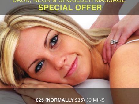 OFFER NOW ENDED - Back, Neck & Shoulder Massage Offer in Totnes  – Was £35 Now £25!