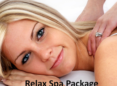 Relax Spa Package normally £62 now available for September for £52.
