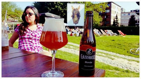 Drinking a Gansbeek Blonde in Jette - Atélie 34zéro