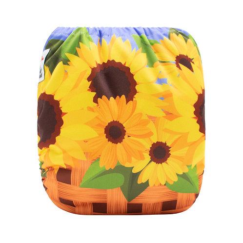 Round 10 Sunflower Basket