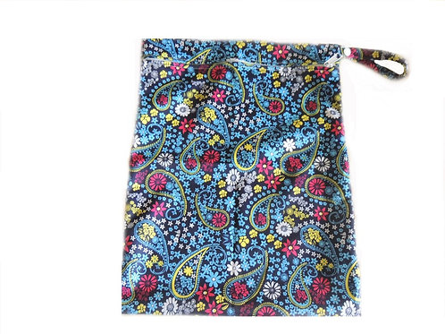 Wet Bag - Navy Paisley