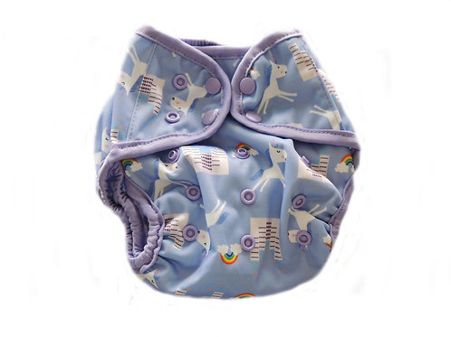 Diaper Cover With Double Gussets - Unicorns