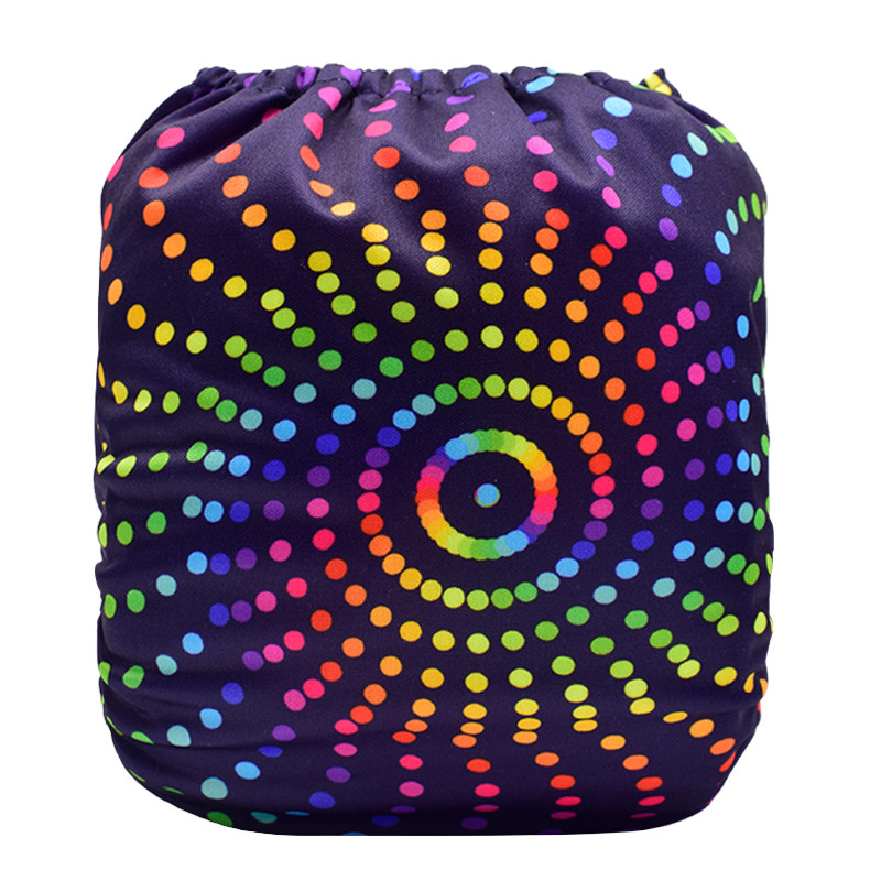 Rainbow Spiral Dots Back