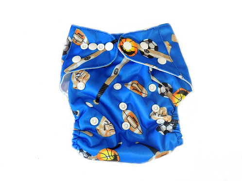 Pocket Diaper With Double Gussets - Sports