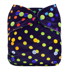 Rainbow Spiral Dots Front