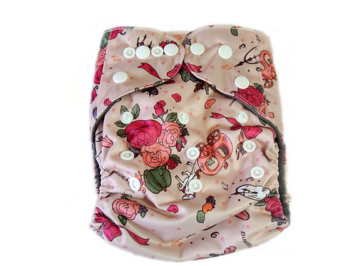 CB Pocket Diaper With Double Gussets - Cinderella