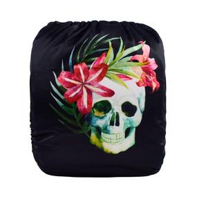 Floral Skull Back