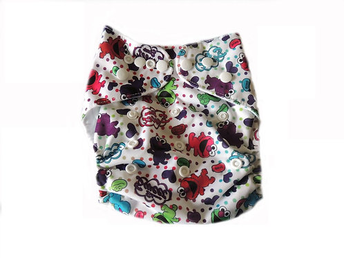 Pocket Diaper With Double Gussets - Sesame Street