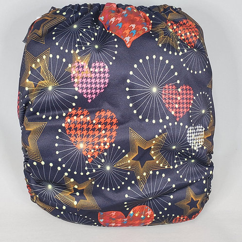 Round 13 Houndstooth Hearts and Stars