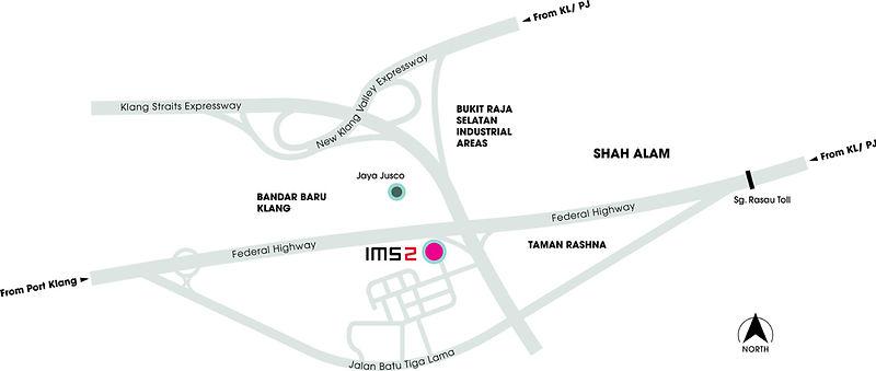 Location of Intan Millennium Square IMS Klang