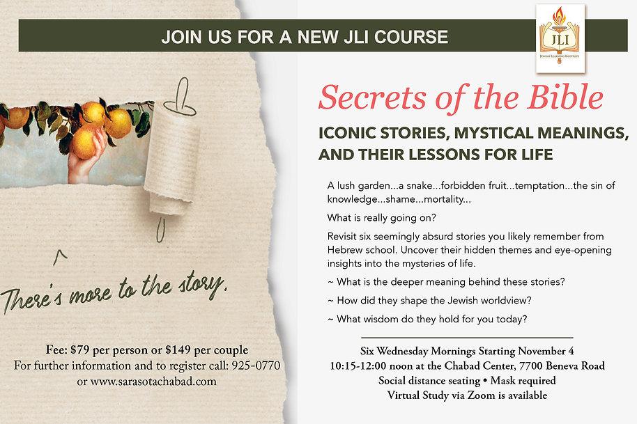 JLI Secrets of the Bible Web Banner 5781