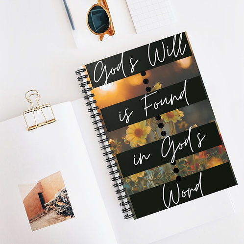 God's Will Spiral Journal