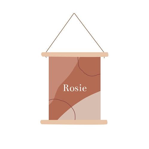 Textielposter Rosie