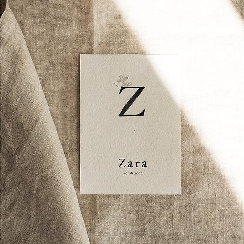 Geboortekaartje Z
