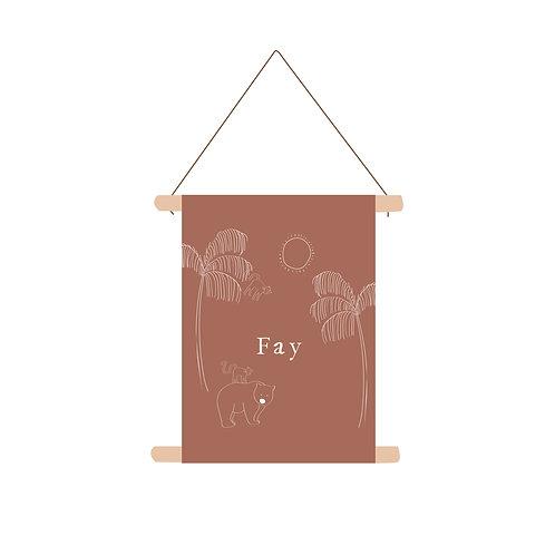 Textielposter Fay