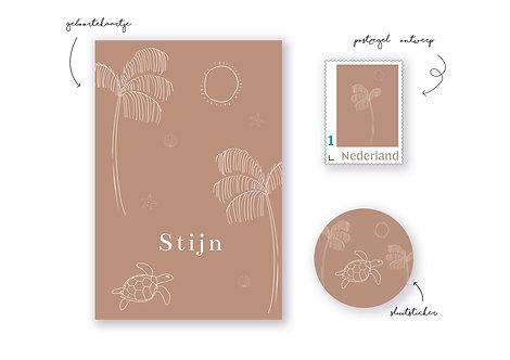 Postzegel illustratie Stijn