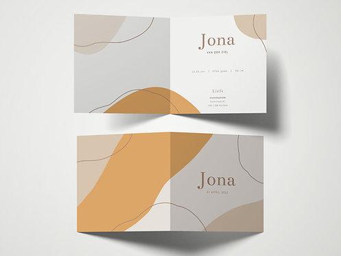 Geboortekaartje Jona