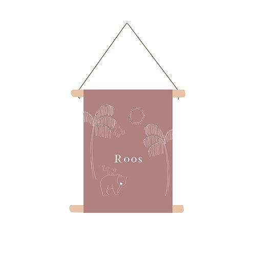 Textielposter Roos