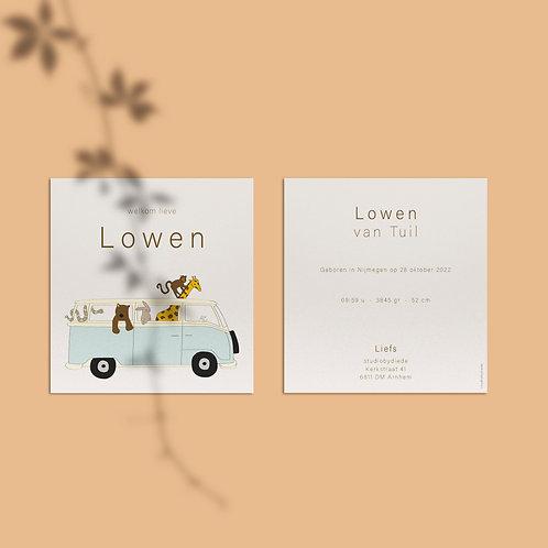 Geboortekaartje Lowen
