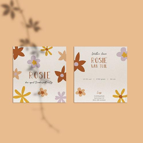 Geboortekaartje Rosie bloem